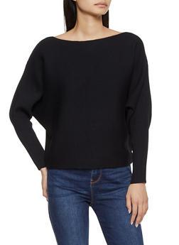 Ribbed Dolman Sweater - 3403075391377