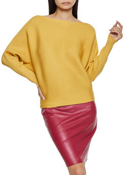Ribbed Dolman Sweater - 3403075391377