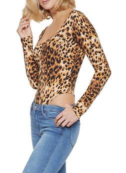 Leopard Thong Bodysuit - 3405061355493
