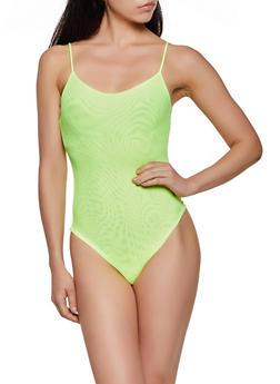 Mesh Cami Bodysuit - 3405061356060