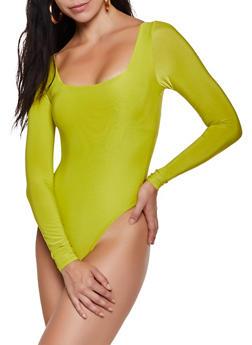 Square Neck Bodysuit - 3405062703069