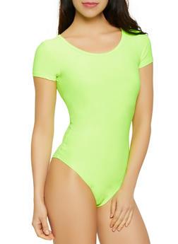 Scoop Neck T Shirt Bodysuit - 3405063402564