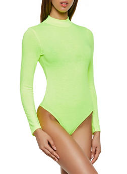 Long Sleeve Mock Neck Bodysuit - 3405066493640
