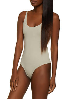 Ponte Sleeveless Bodysuit - 3405068193348