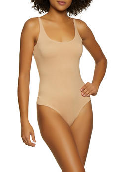 Seamless Thong Bodysuit - 3405068197345