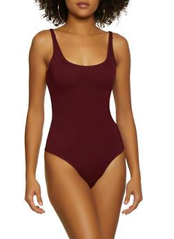 Seamless Thong Bodysuit - 3405068197345