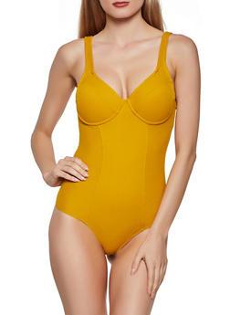 Ribbed Thong Bodysuit - 3405069390112