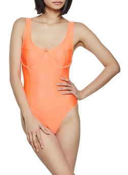 Underwire Spandex Bodysuit - 3405069390233