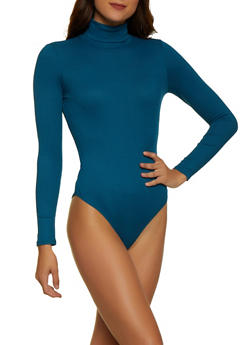 Ribbed Turtleneck Bodysuit - 3405069390292