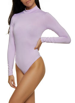 Long Sleeve Thong Bodysuit - 3405069393760