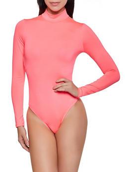 Long Sleeve Thong Bodysuit - 3405069393760