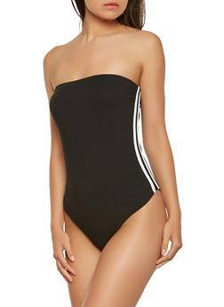 Varsity Stripe Tube Bodysuit - 3405072240262