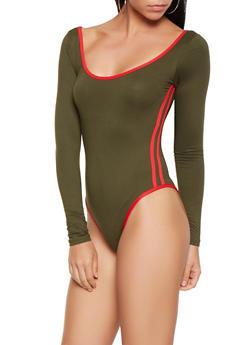 Varsity Stripe Bodysuit - 3405072240340