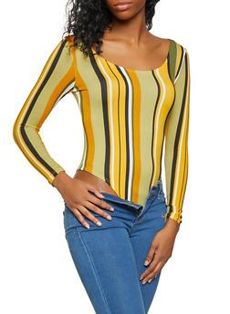 Striped Soft Knit Bodysuit - 3405072240525