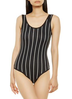 Striped Soft Knit Cheeky Bodysuit - 3405072241641