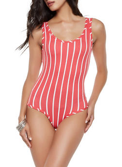 Striped Soft Knit Bodysuit - 3405072249924
