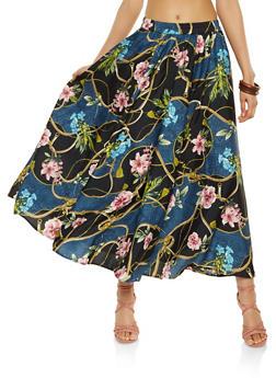 Printed Maxi Skirt - 3406056126613
