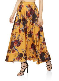 Floral Maxi Skirt - 3406056126614