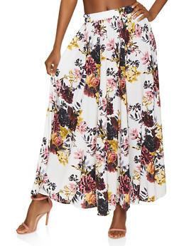 Floral Maxi Skater Skirt | 3406056126669 - 3406056126669