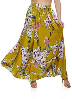 Floral Skater Maxi Skirt - 3406056126670