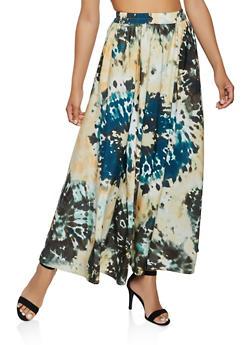 Tie Dye Maxi Skater Skirt - 3406056127766