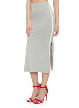 Side Stripe Pencil Skirt - 3406066492611