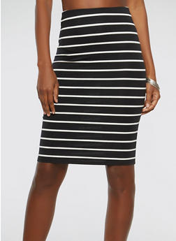 Striped Pencil Skirt - 3406066494891