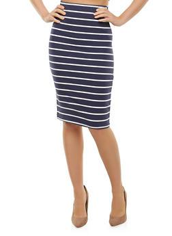 Striped Pencil Skirt - 3406066494891