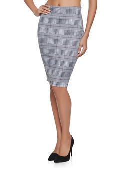 Plaid Pencil Skirt - 3406068192374