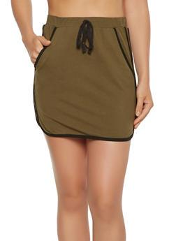 Varsity Stripe Athletic Mini Skirt - 3406069391216