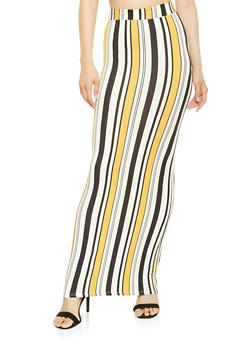 Striped Maxi Skirt - 3406072242930