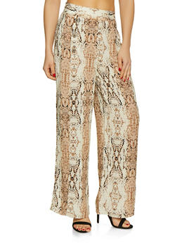 Snake Print Sailor Pants | 3407056123409 - 3407056123409