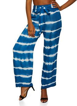 Tie Dye Gauze Knit Pants - 3407056129510