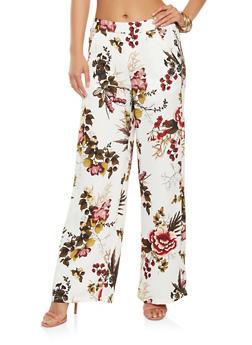 Floral Palazzo Pants - 3407056571241