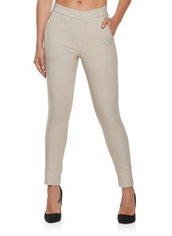 Solid Pull On Dress Pants - 3407056572161