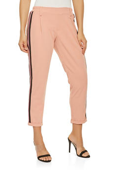 Side Stripe Detail Dress Pants - 3407056574308