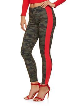 Camo Ponte Knit Pants - 3407056575680