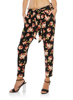 Floral Crepe Knit Pants - 3407056577012