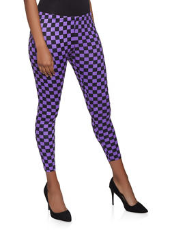 Checkered Leggings - 3407062707163