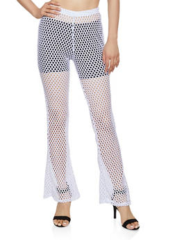 Fishnet Flared Pants - 3407063408897