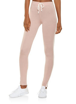 Side Stripe Leggings - 3407066491218