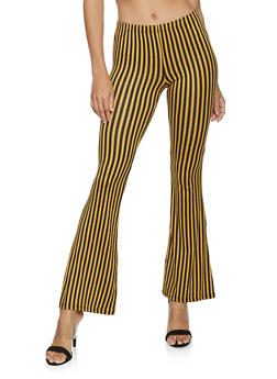 Vertical Striped Flared Pants - 3407068510402