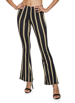 Striped Flared Pants - 3407068511620