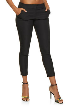 Ruffle Trim Dress Pants - 3407068511640