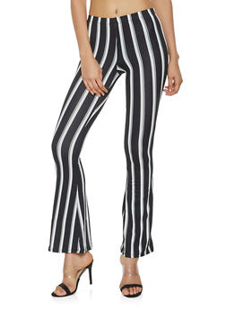 Striped Flared Casual Pants - 3407068511641