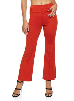 Crepe Knit Belted Dress Pants - 3407068511708