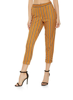 Striped Pull On Dress Pants - 3407068513738