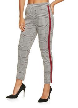 Plaid Side Stripe Pants - 3407069390469