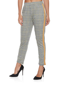 Plaid Side Stripe Pants - 3407069390469