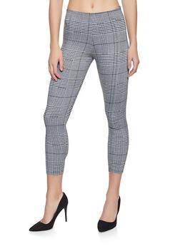 Plaid Pull On Dress Pants - 3407069395099